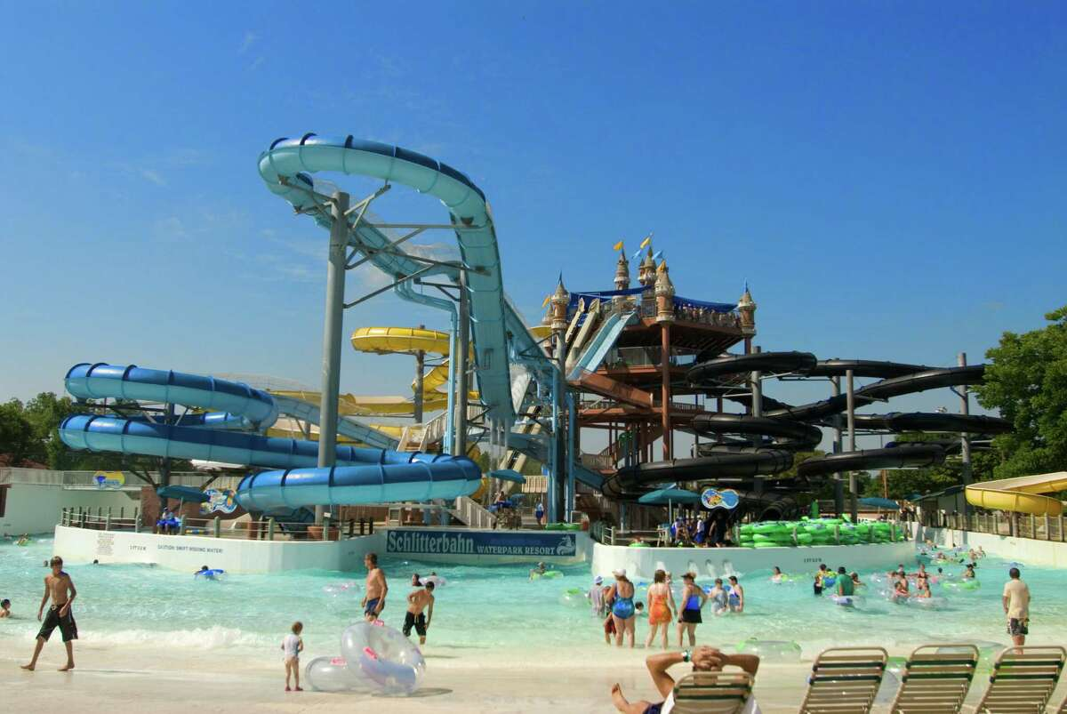 Schlitterbahn Waterparks, located in New Braunfels and Galveston, feature an inside water area as well as an outside park with water slides.