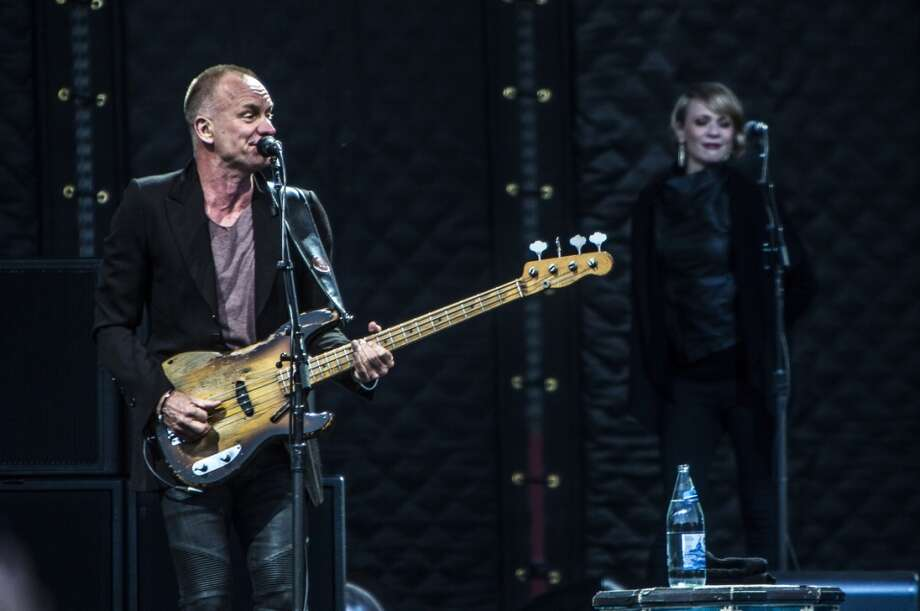 Sting performs at the opening of the America's Cup Pavilion in San Francisco on June 2, 2013.
