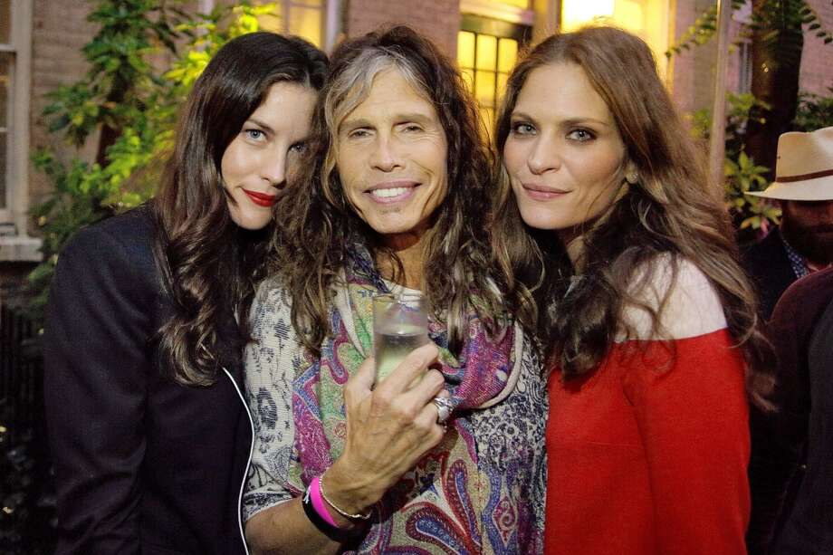 NEW YORK, NY - JUNE 10:  Liv Tyler, Steven Tyler and Frankie Rayder at West 10th Street on June 10, 2013 in New York City.  (Photo by Randy Brooke/Getty Images)