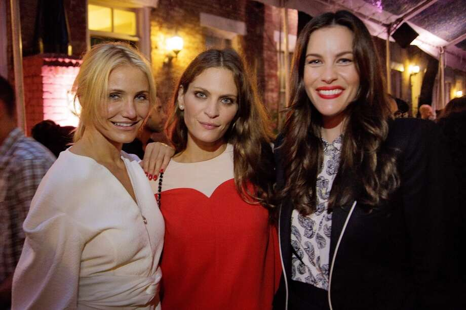 NEW YORK, NY - JUNE 10:  Cameron Diaz, Frankie Rayder and Liv Tyler at West 10th Street on June 10, 2013 in New York City.  (Photo by Randy Brooke/Getty Images)
