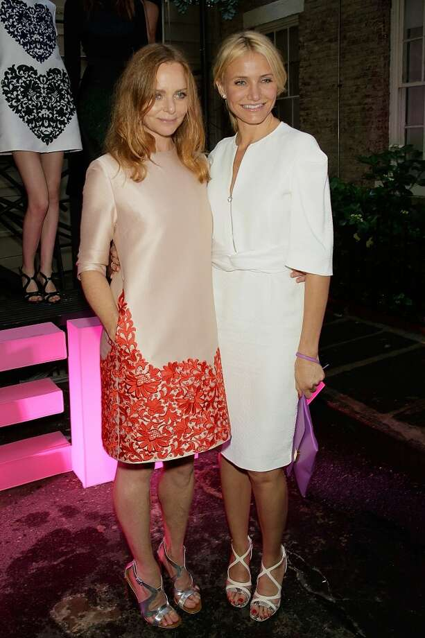 NEW YORK, NY - JUNE 10:  Stella McCartney and  Cameron Diaz attend the Stella McCartney Spring 2014 Collection Presentation at West 10th Street on June 10, 2013 in New York City.  (Photo by Randy Brooke/Getty Images)
