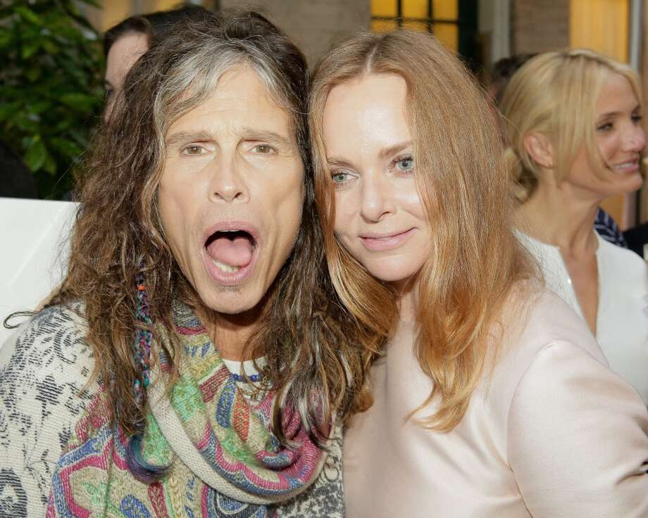 NEW YORK, NY - JUNE 10:  Steven Tyler and Stella McCartney at West 10th Street on June 10, 2013 in New York City.  (Photo by Randy Brooke/Getty Images)