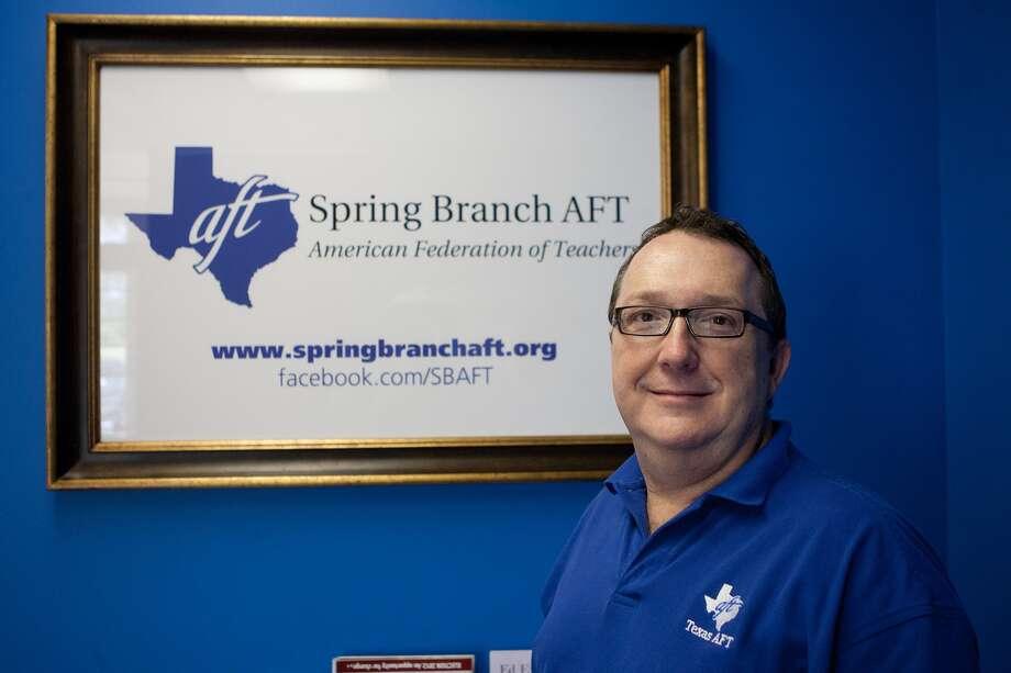 Craig Adams, President, Spring Branch AFT.  Photo by R. Clayton McKee Photo: R. Clayton McKee, Freelance / © R. Clayton McKee