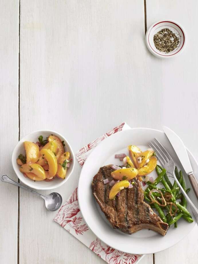 Country Living recipe for Grilled Pork Chop with Zesty Apricots. Photo: Andrew Purcell