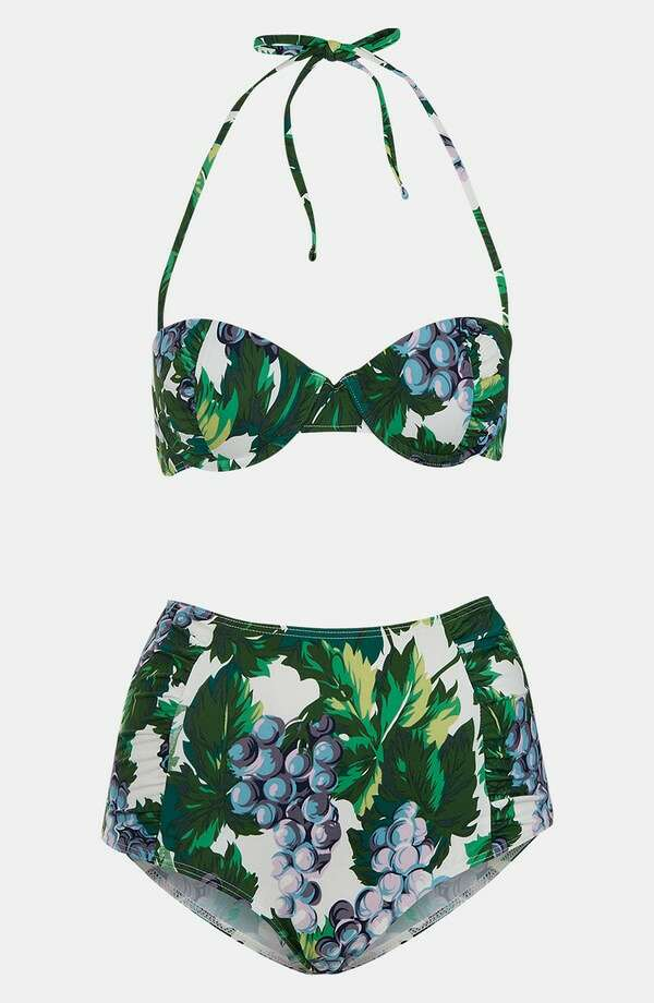 RETRO: Care a visit to the Copacabana? Topshop Ruched retro bikini, Nordstrom ($68)