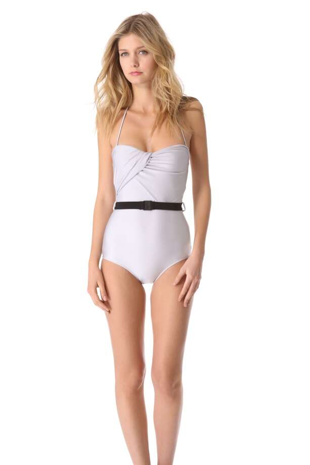 RETRO: We've never met a belt that didn't do wonders for the waistline. Zimmermann Vapor Drape One Piece Swimsuit, Shopbop ($290)