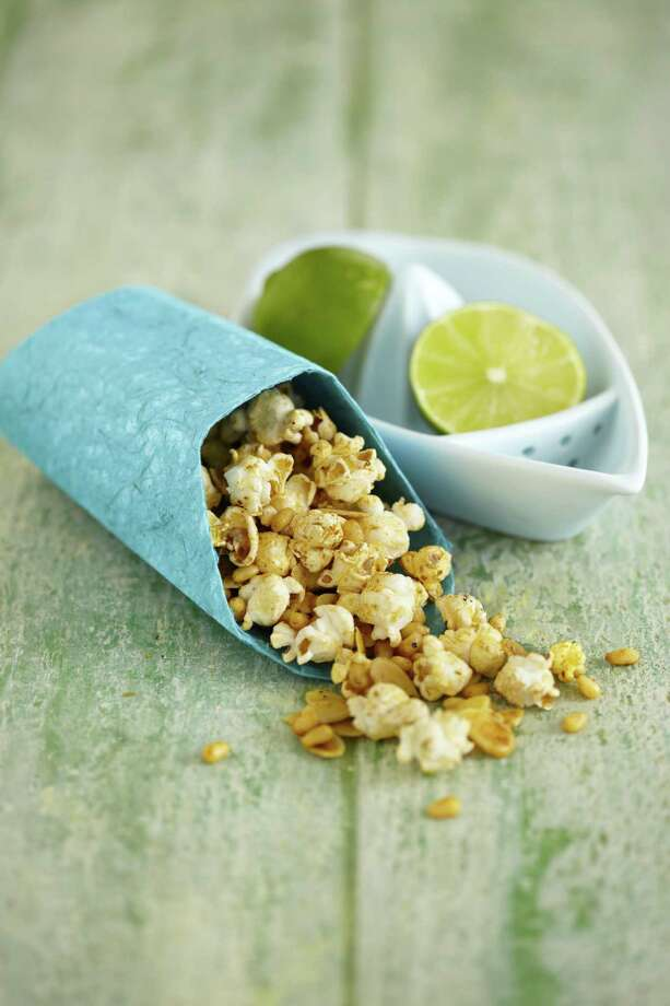 """Spicy Chile and Lime Popcorn from """"Popcorn! 100 Sweet and Savory Recipes"""" by Carol Beckerman. Photo: Quintet Publishing Limited"""