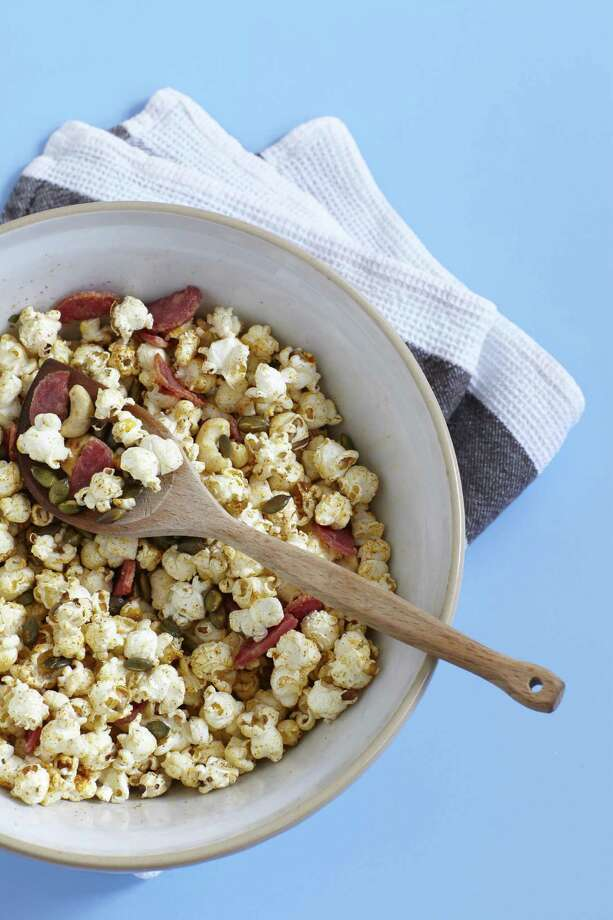 "Pepperoni Popcorn from ""Popcorn! 100 Sweet and Savory Recipes"" by Carol Beckerman. Photo: Quintet Publishing Limited"