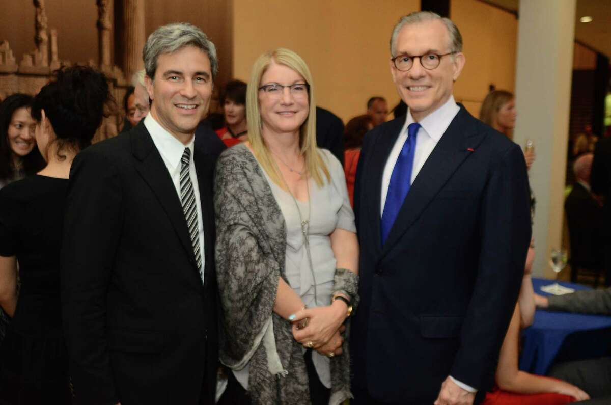 Michael Govan, from left, Suzanne Deal Booth and Gary Tinterow