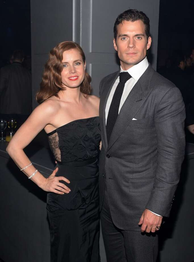 "Actors Amy Adams and Henry Cavill attend the ""Man Of Steel"" world premiere after party at Skylight at Moynihan Station on June 10, 2013 in New York City.  (Photo by Andrew H. Walker/Getty Images)"