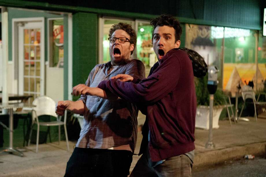 "Seth Rogen, left, and Jay Baruchel star in the comedy ""This Is the End."" Photo: Suzanne Hanover"