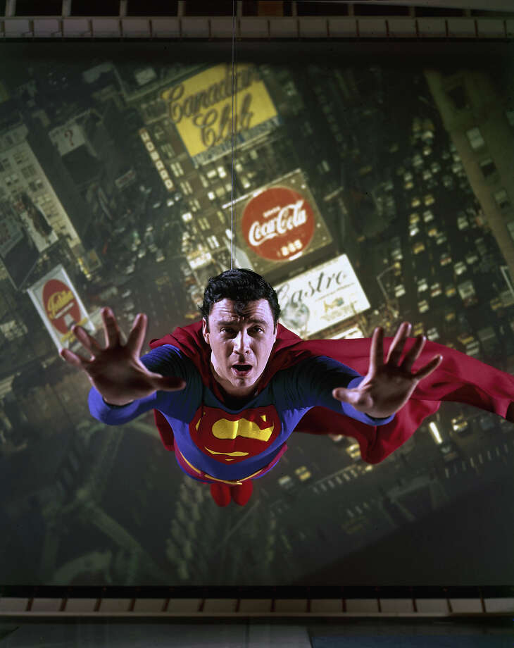 "Bob Holidayportrayed the Man of Steel in the Broadway production ""It's a Bird...It's a Plane...It's Superman,"" 1966. Photo: Yale Joel, File / Time & Life Pictures"