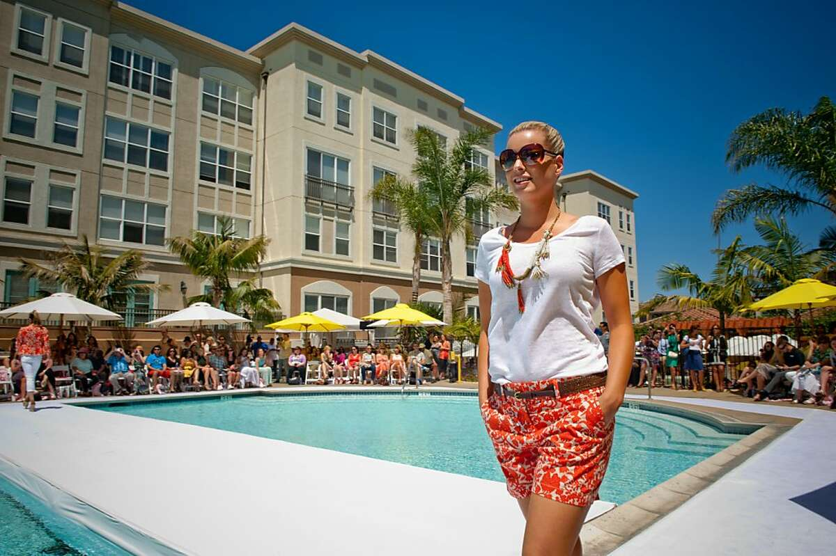 Santana Row's annual Poolside fashion show featured looks from stores including Loft.