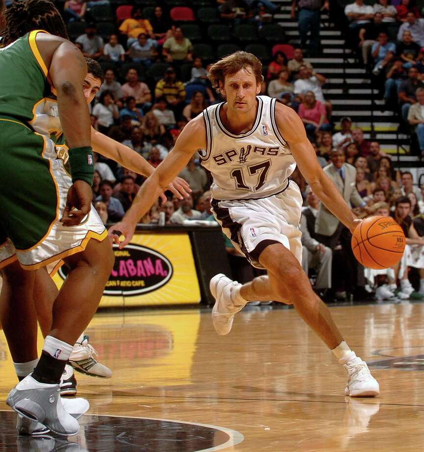Brent Barry — Son Brent won an NBA championship with the Spurs in 2005, making him and Rick one of three father-son duos to both win NBA rings as players. Photo: WILLIAM LUTHER, AP / SAN ANTONIO EXPRESS-NEWS