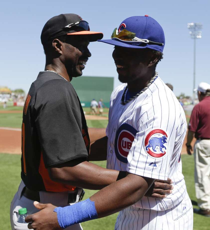 Shawon Dunston and Shawon Jr. — The former Giant (now in the organization as a special assistant) has a son, Shawon Jr., in the Chicago Cubs organization. Photo: Chris Carlson, Associated Press