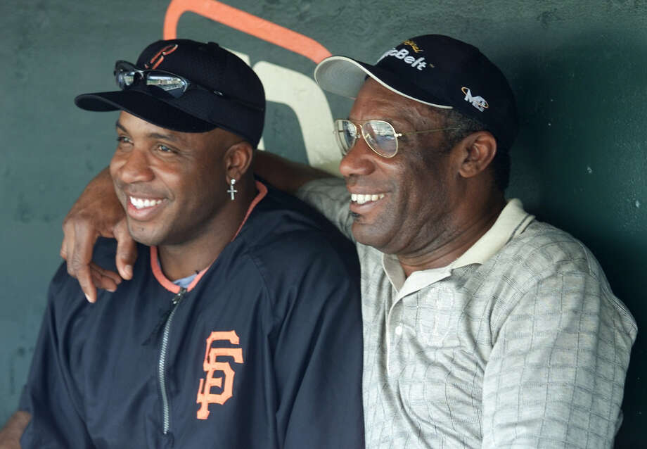 Bobby and Barry Bonds — No father-son MLB duo comes close to the numbers these two combined for: 1,094 home runs, 3,020 RBIs and 975 stolen bases. Photo: ERIC RISBERG, AP / AP