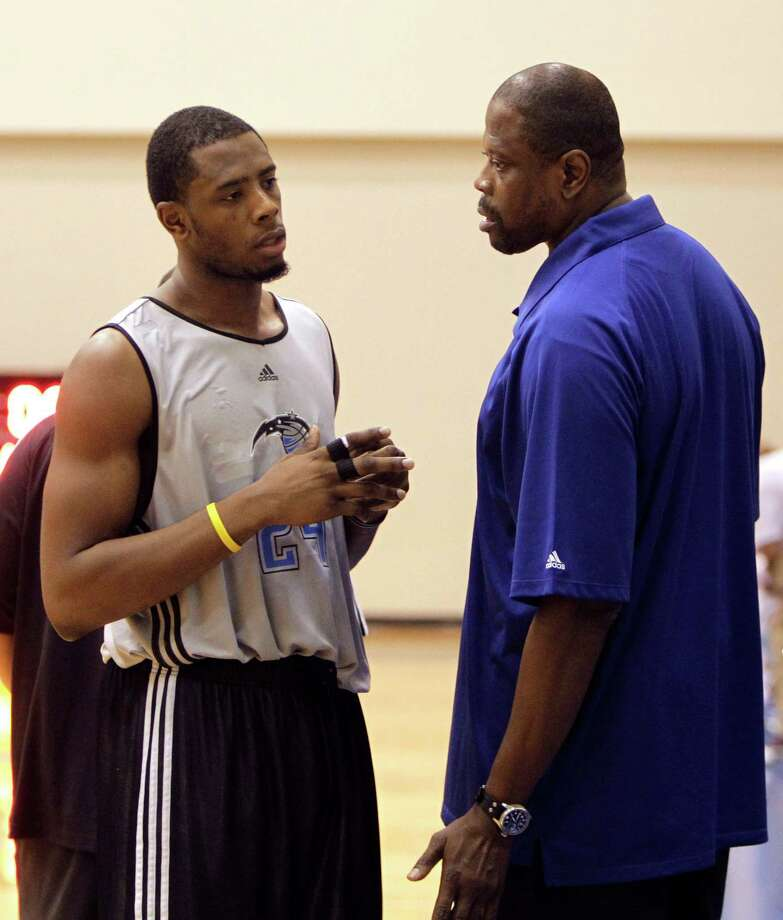 Patrick Ewing and Patrick Jr. — Pops was an NBA Rookie of the Year, 11-time All-Star and two-time Olympic gold medalist. Son Patrick Jr. has had a less storied career, spent mostly in the NBA D-League. Photo: John Raoux, AP / AP