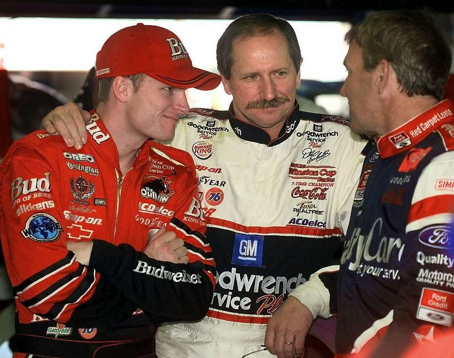 Dale Earnhardt Sr. and Jr. — Dad Dale won 76 career races before his tragic death in the 2001 Daytona 500. His son has kept the Earnhardt name alive, winning the title of NASCAR's Most Popular Driver for the last eleven years. Photo: BILL MITCHELL, Associated Press / FORT PIERCE NEWS TRIBUNE