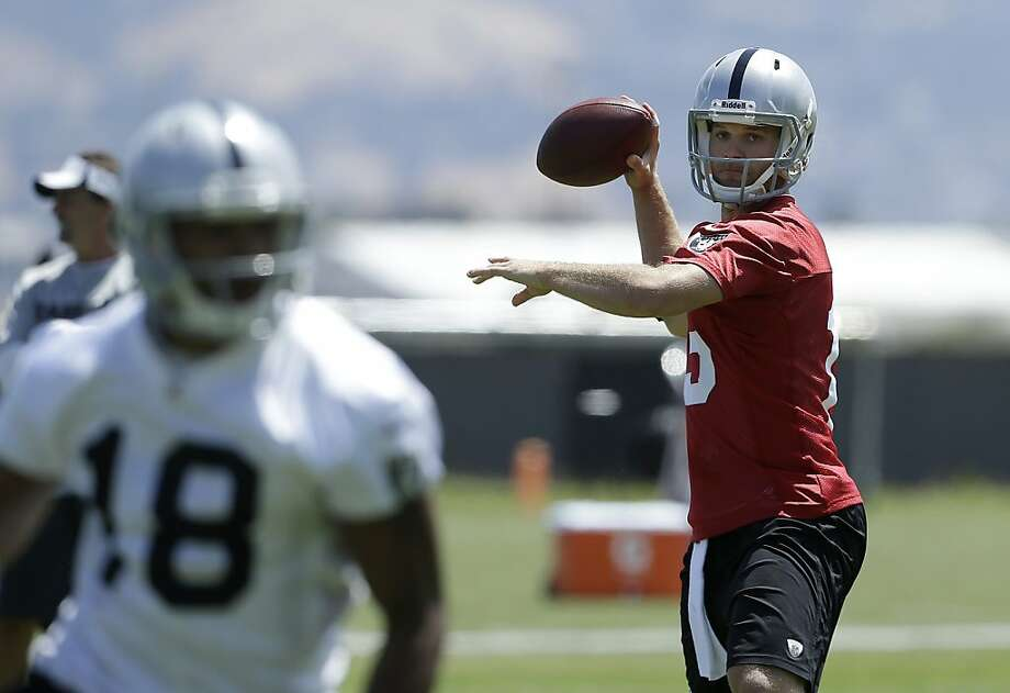 Quarterback Matt Flynn is expected to be the starter this season. Oakland acquired Flynn from Seattle in April. Photo: Jeff Chiu, Associated Press