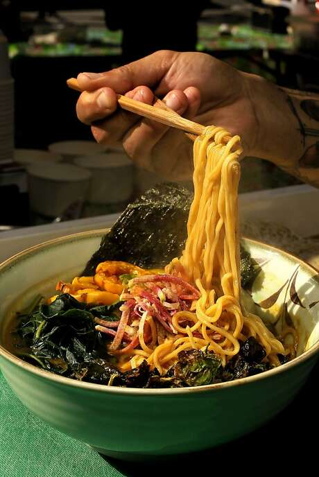 Hapa Ramen offers its food at a farmers' market. Photo: Michael Macor, The Chronicle