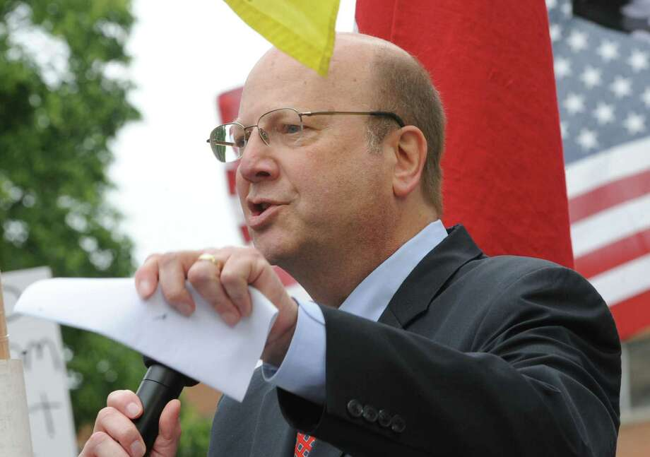 Assemblyman Bill Nojay speaks during an Anti-SAFE Act rally at the West Capitol Park on Tuesday, June 11, 2013 in Albany, N.Y.  (Lori Van Buren / Times Union) Photo: Lori Van Buren / 00022762A