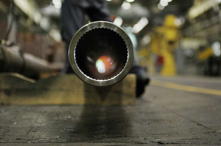 A view looking into a 155 millimeter gun barrel in the finish gun tube building at the Watervliet Arsenal  on Tuesday, June 11, 2013 in Watervliet, NY.  (Paul Buckowski / Times Union) Photo: Paul Buckowski