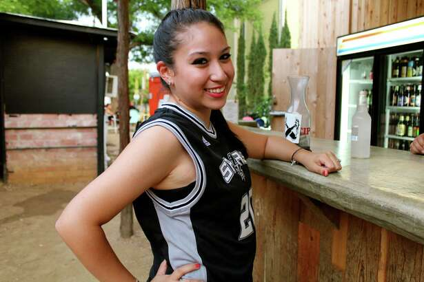 Spurs fans gather at The Friendly Spot to watch Game 3 against the Miami Heat on Tuesday, June 11, 2013.