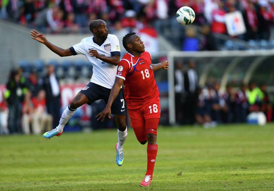 U.S. player DaMarcus Beasley (7) and Panama's Luis Tejada battle for control of the ball during a World Cup qualifying match against Panama on Tuesday, June 11, 2013 at CenturyLink Field in Seattle. The U.S. defeated Panama 2-0. Photo: JOSHUA TRUJILLO, SEATTLEPI.COM / SEATTLEPI.COM