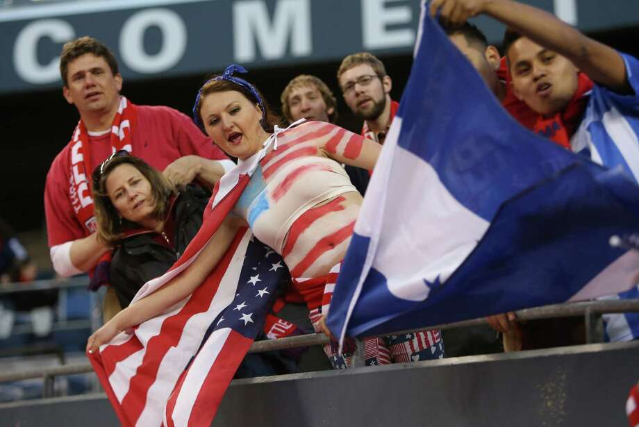 U.S. fans cheer on their team during a World Cup qualifying match against Panama on Tuesday, June 11, 2013 at CenturyLink Field in Seattle. The U.S. defeated Panama 2-0. Photo: JOSHUA TRUJILLO, SEATTLEPI.COM / SEATTLEPI.COM