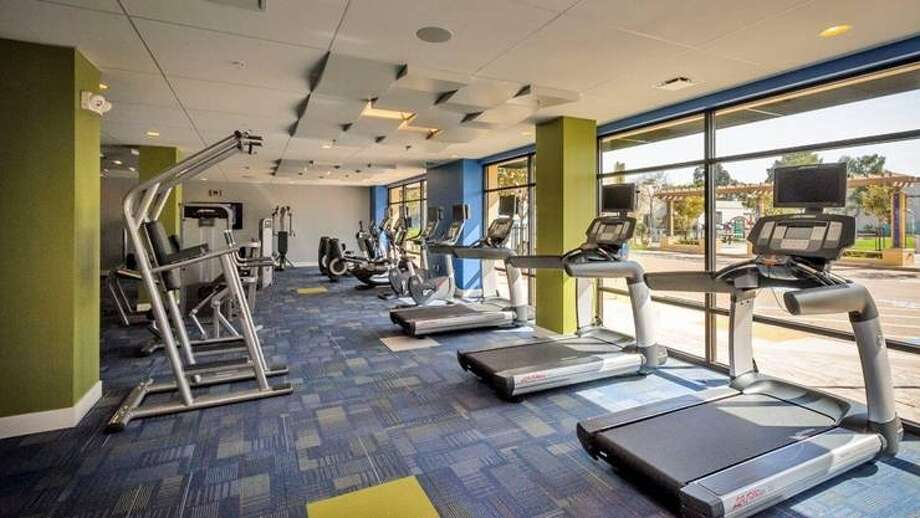 Did we mention the gym? It's located right next to the yoga studio and pool area.