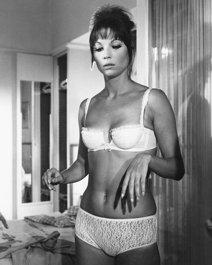 Italian actress Elsa Martinelli wearing a white underwear, circa 1965. (Photo by Silver Screen Collection/Getty Images)