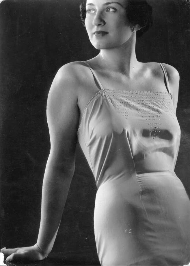Model wearing underwear. Germany. Photograph. Around 1930.
