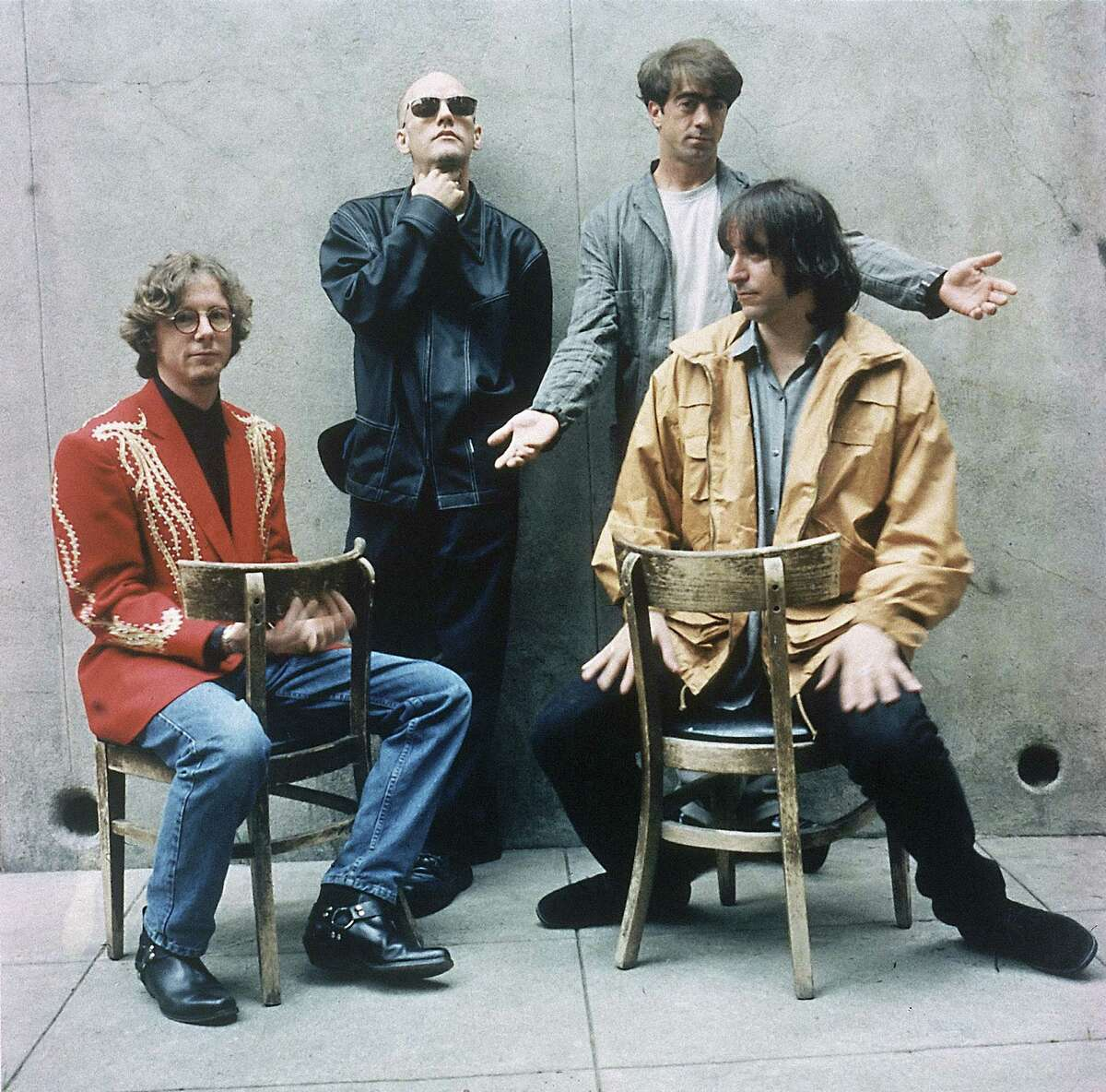 Mike Mills, Michael Stipe, Bill Berry and Peter Buck of R.E.M. brought