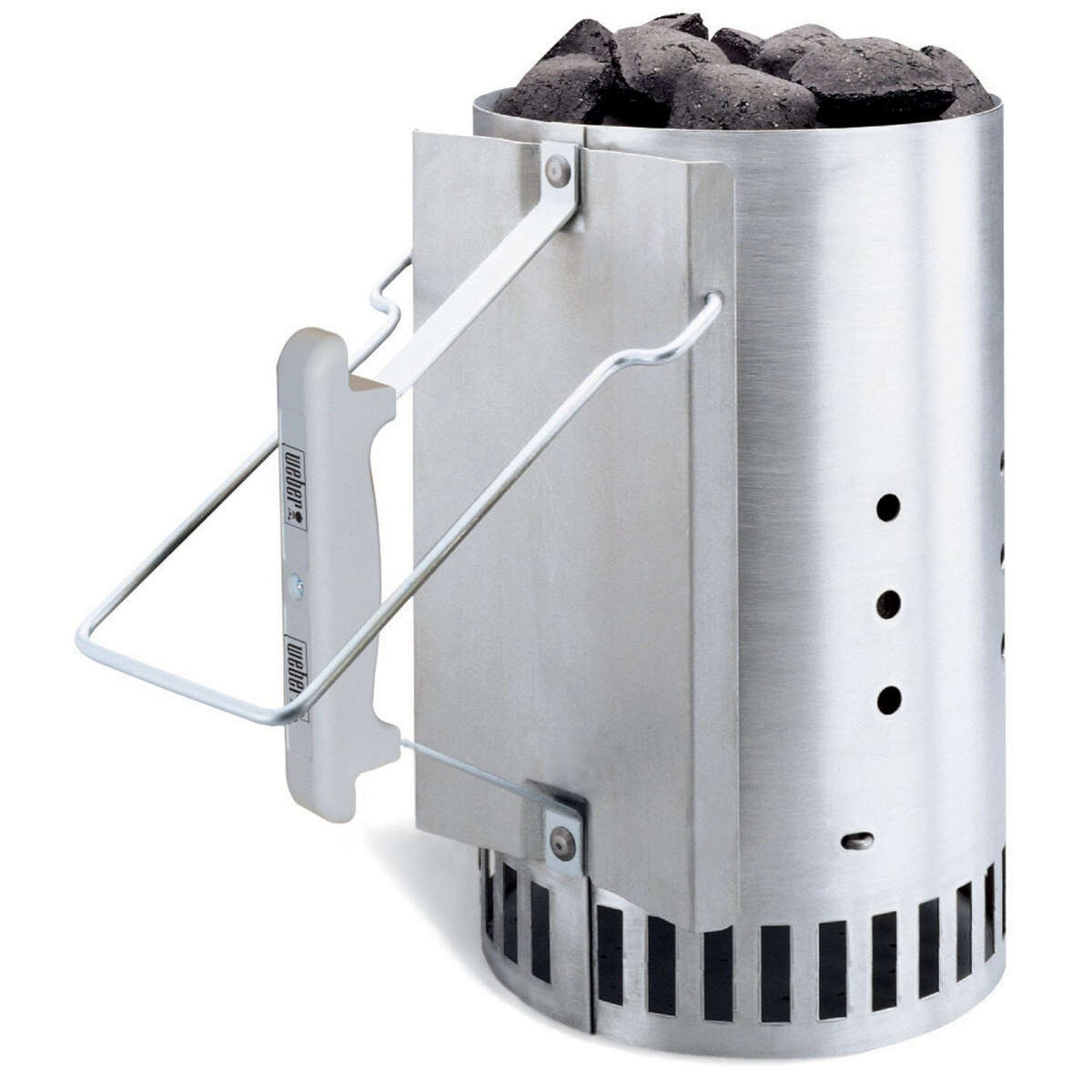 Chimney starter Don't mess with lighter fluid, get a chimney starter. For foolproof barbecue ignition, just add charcoal into the chimney and light some balled up newspaper underneath it. After about 20 minutes, dump the red-hot coals into your barbeque and start grilling.Get one here
