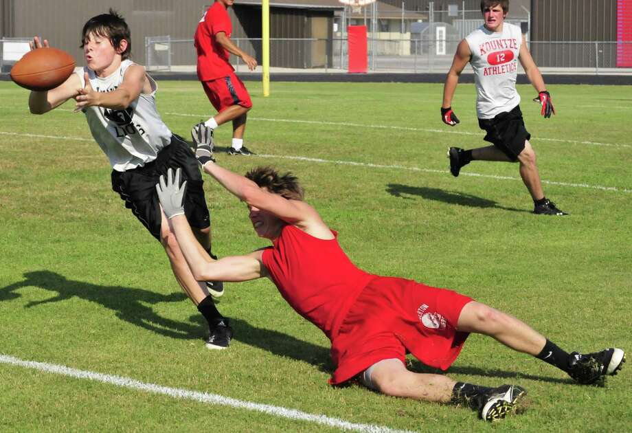 The Kountze and Lumberton football teams squared off June 4 during a 7-on-7 game. Photo: Cassie Smith