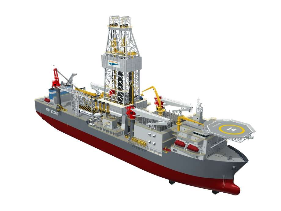 ENSCO, a London-based offshore drilling services company, has contracted with Samsung Heavy Industries to build the ENSCO DS-10, modeled in this rendering, for $625 million. Photo: ENSCO