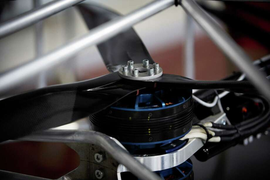 "An airscrew of a ""Flying bike"" bicycle is seen ahead of its first public flight on June 12, 2013 in Prague, Czech Republic. Photo: Matej Divizna, Getty Images / 2013 Matej Divizna"