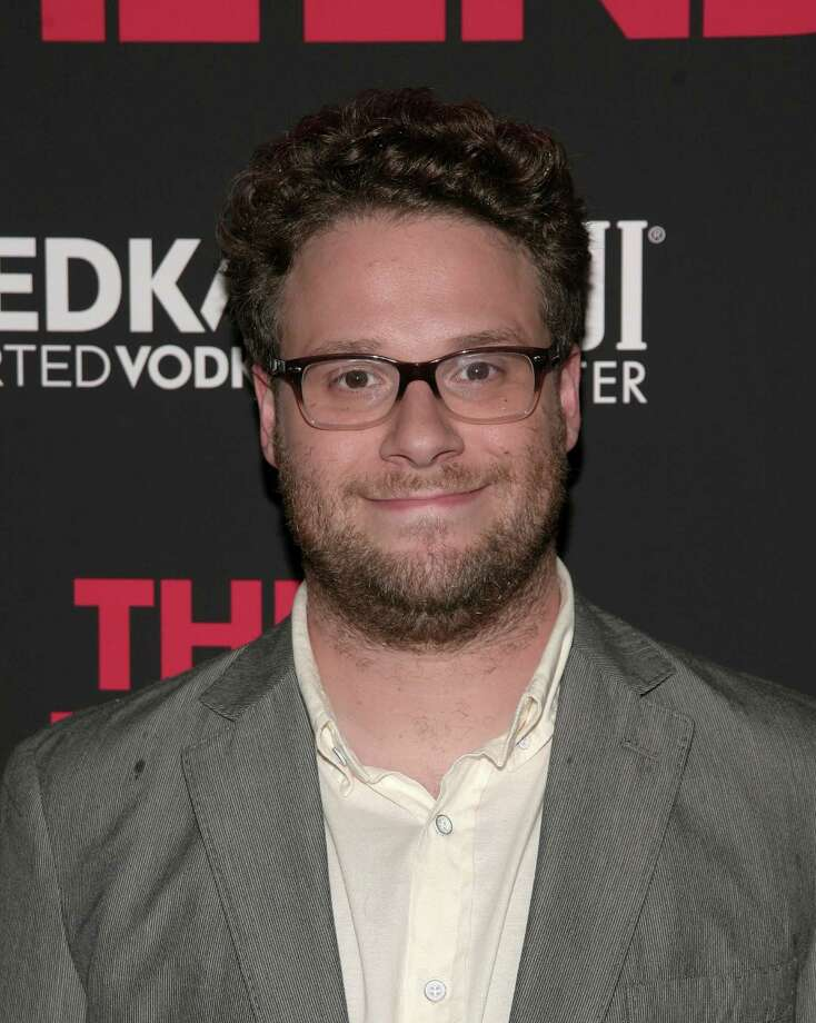 "Actor Seth Rogen attends a screening of ""This Is The End"" presented by FIJI Water and SVEDKA Vodka, on Monday, June 10, 2013 in New York. (Photo by Andy Kropa/Invision/AP) Photo: Andy Kropa"