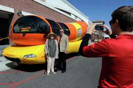 The Oscar Mayer Wienermobile is a classic food truck, but it's more in the promotional side than the serving side. Photo: Kathryn Scott Osler/The Denver Post via Getty Images