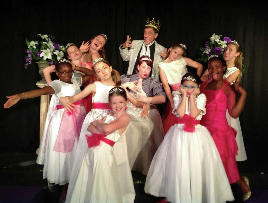 "The cast of Carriage House's Family Musical, ""The Dancing Princesses: A Not-So-Grimm Tale,"" gives it all that they have got in this new production which opens Friday, June 21, 2013, at the Carriage House stage in Cranbury Park, 390 Grumman Ave., Norwalk, Conn. Tickets are $12. For more information, call 203-229-9797 or visit http://www.carriagehouseartscenter.org. Photo: Contributed Photo"