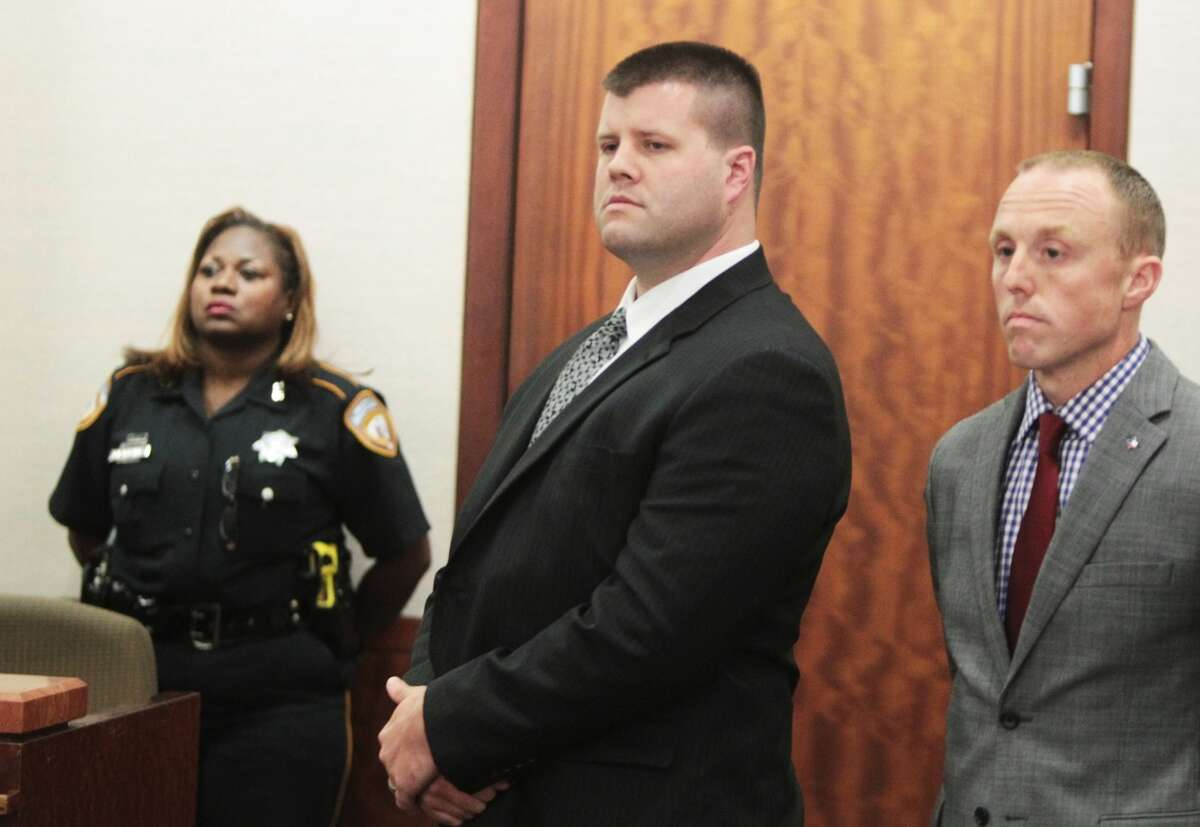 A Harris County jury on Wednesday, June 12, 2013, convicted former Houston police officer Drew Ryser on charges of official oppression for his role in the 2010 videotaped beating of teenager Chad Holley. (Nick de la Torre / Houston Chronicle)