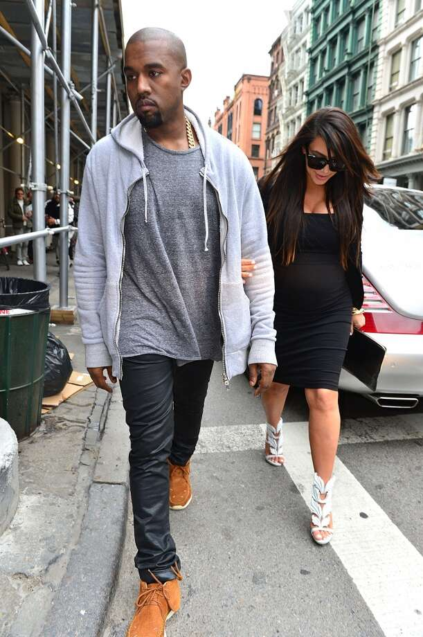 Kanye's pants manage to be baggy and tight at the same time. Photo: James Devaney, WireImage