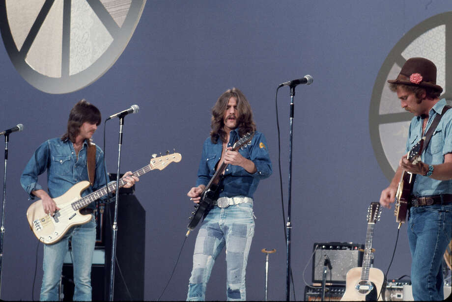 1973: The Canadian tuxedo rose to prominence in the 1970s when rock musicians like The Eagles embraced the style for its ease of wear and the fact you didn't have to do laundry all that often. Photo: NBC, NBC Via Getty Images / 2012 NBCUniversal, Inc.
