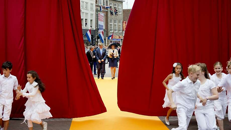 Dutch treat:The city of Roosendaal rolls out the yellow carpet for Netherlands King Willem-Alexander and 