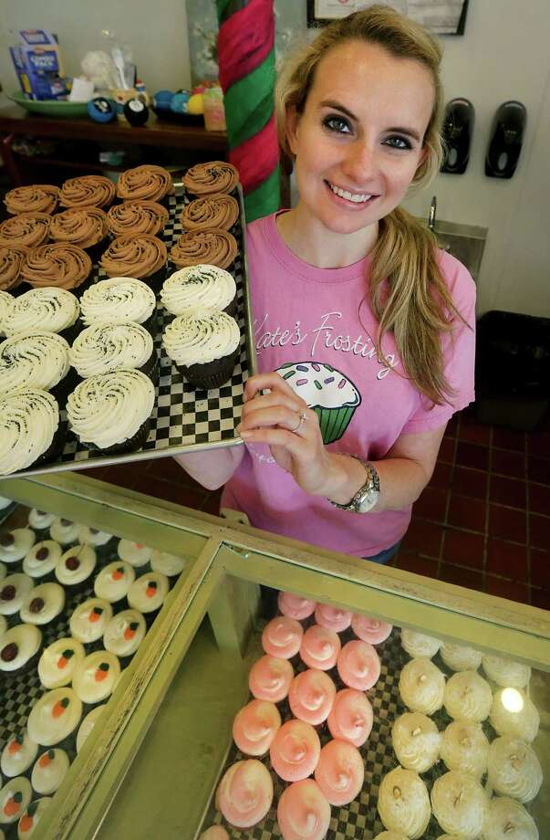 Kate-Frost Feild, owner of Kate's Frosting, opened her cupcake business almost six years ago and is going strong with two locations, on Wednesday, June 12, 2013. Photo: Bob Owen, San Antonio Express-News / © 2012 San Antonio Express-News