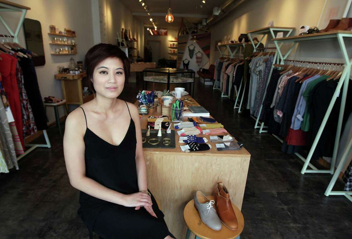 Myth & Symbol boutique co-owner Trang Nguyen says her customers like knowing there's a story behind the clothes they wear.