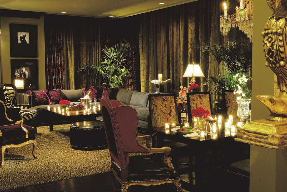 Hotel ZaZa, Houston: The Rock Star Suite at the Museum District hotel is a swirl of velvet, leather, animal prints and crystal chandeliers.