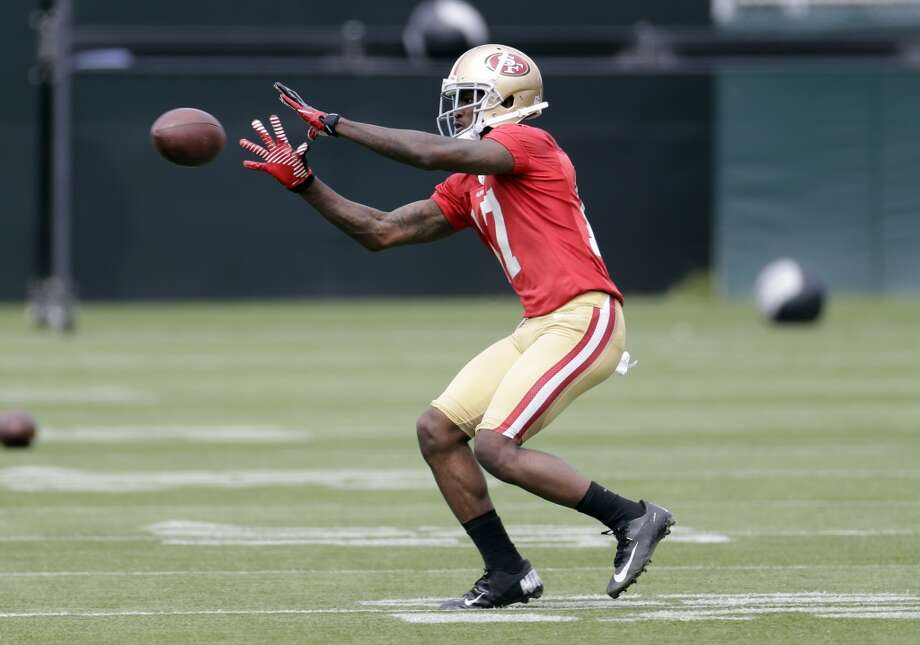 San Francisco 49ers wide receiver A.J. Jenkins (17) during practice at the team's NFL football training facility in Santa Clara, Calif., Tuesday, June 11, 2013. (AP Photo/Marcio Jose Sanchez)