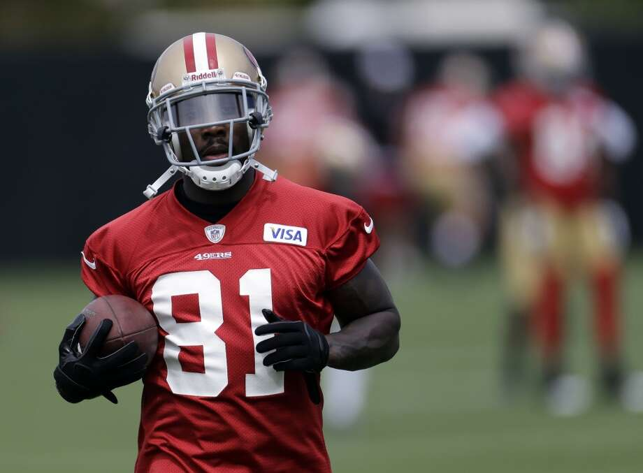 San Francisco 49ers wide receiver Anquan Boldin (81) during practice at the team's NFL football training facility in Santa Clara, Calif., Tuesday, June 11, 2013. (AP Photo/Marcio Jose Sanchez)