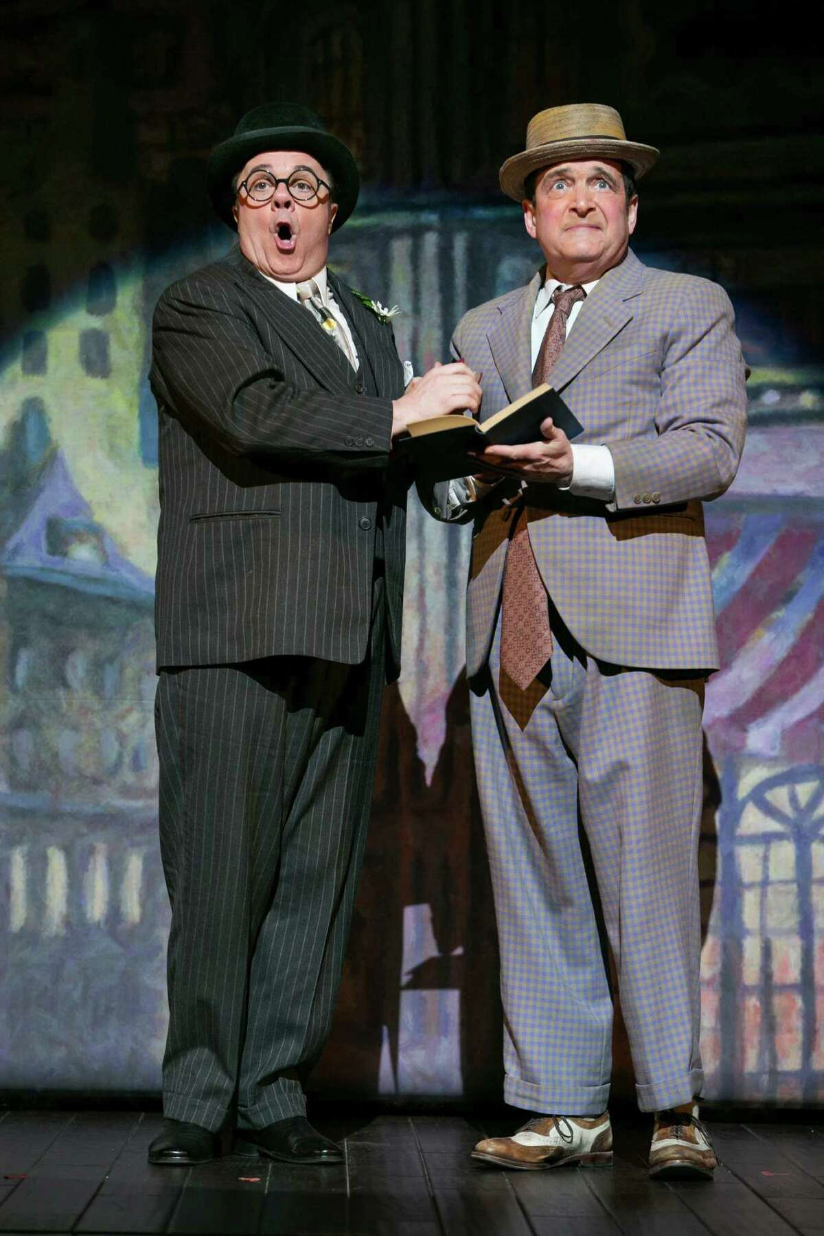 FILE -- Nathan Lane, left, and Lewis Stadlen during a scene in the play